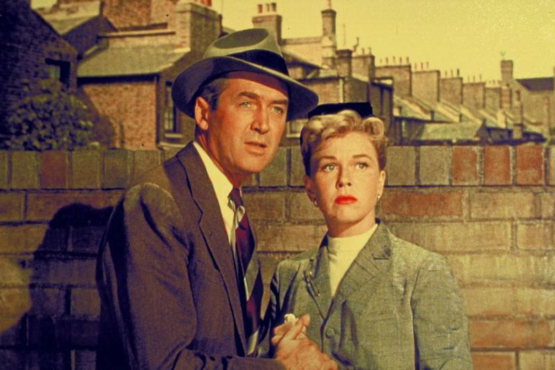 Jimmy Stewart and Doris Day